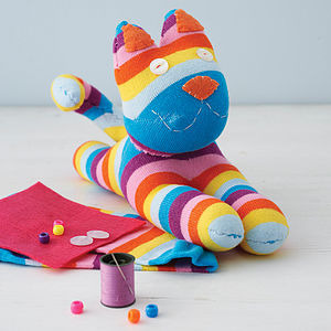 Sock Kitty Craft Kit - sewing & knitting