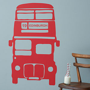Personalised Bus Vinyl Wall Sticker - living room