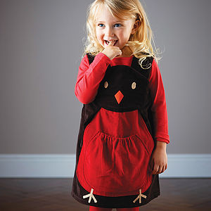 Christmas Robin Play Dress - clothing