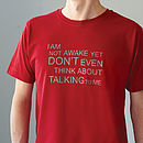 'Not Awake' T Shirt New Colour Available