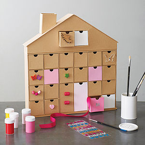 Cardboard Storage House - advent calendars & countdowns