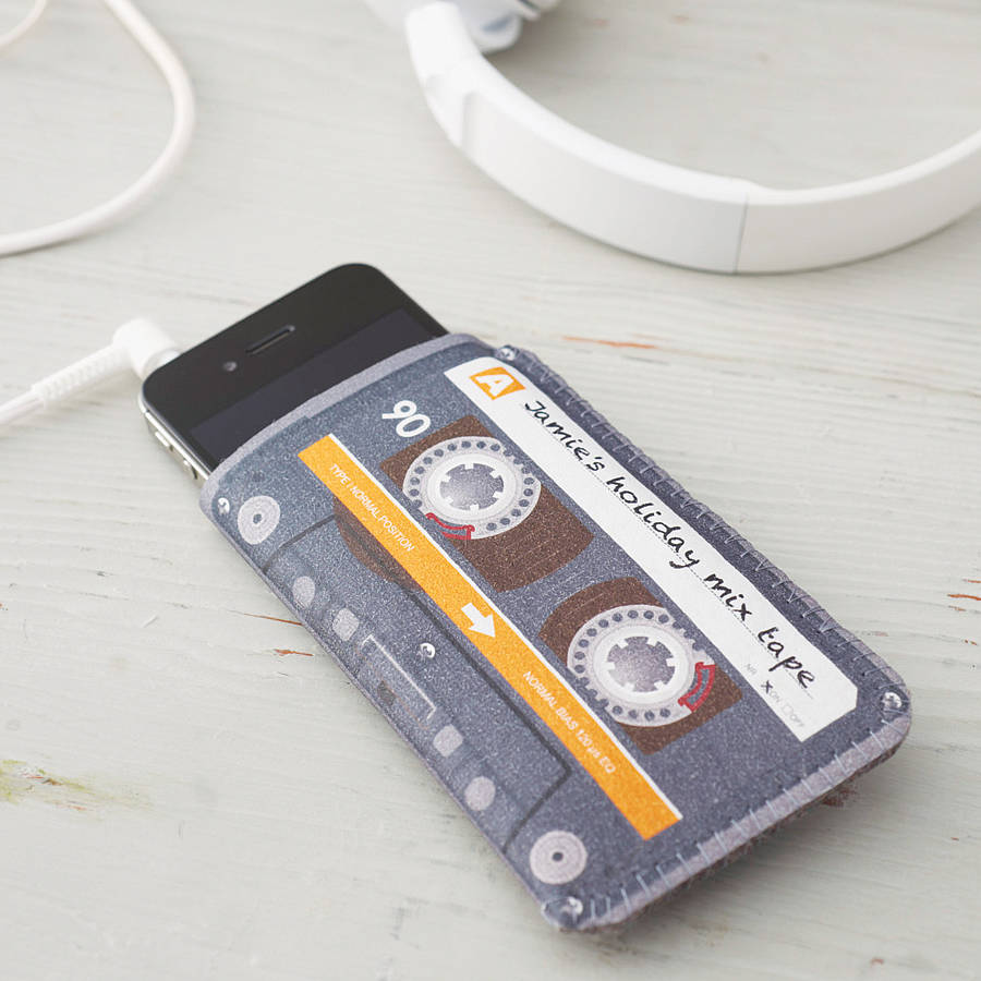 Personalised Mix Tape Cassette Phone Case  Gifts For Geeks