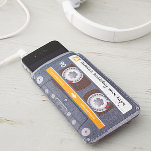 Personalised Mix Tape Cassette Phone Case - gifts for him