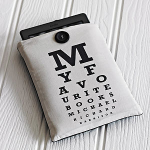 Personalised Eye Chart Gadget Cover - men at play