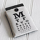 Thumb personalised eye chart kindle cover
