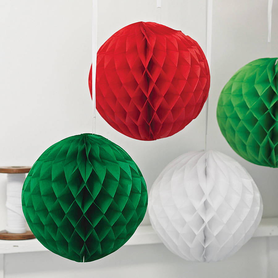 Paper luxe honeycomb tissue ball by pearl and earl for Decoration paper