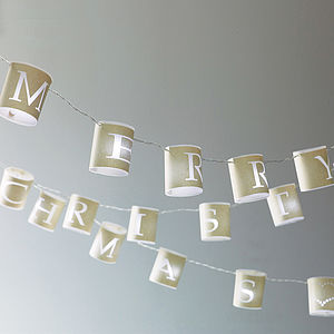 Personalised Paper Lantern Lights - arctic christmas