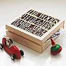 Personalised Wooden Family Gift Keepsake Box