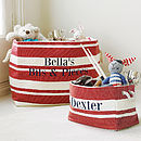 Personalised Canvas Storage Tub