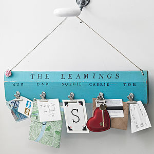 Personalised Wooden Peg Board - hooks, pegs & clips