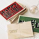 Personalised Wooden Christmas Postcard
