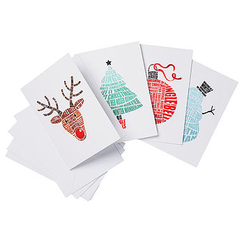 Pack Of Four Songs Of Christmas Cards