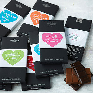 Chocolate Bar Message Gift Club - chocolates & confectionery