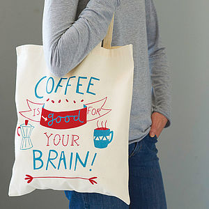 'Coffee Is Good' Tote Bag - shopper bags