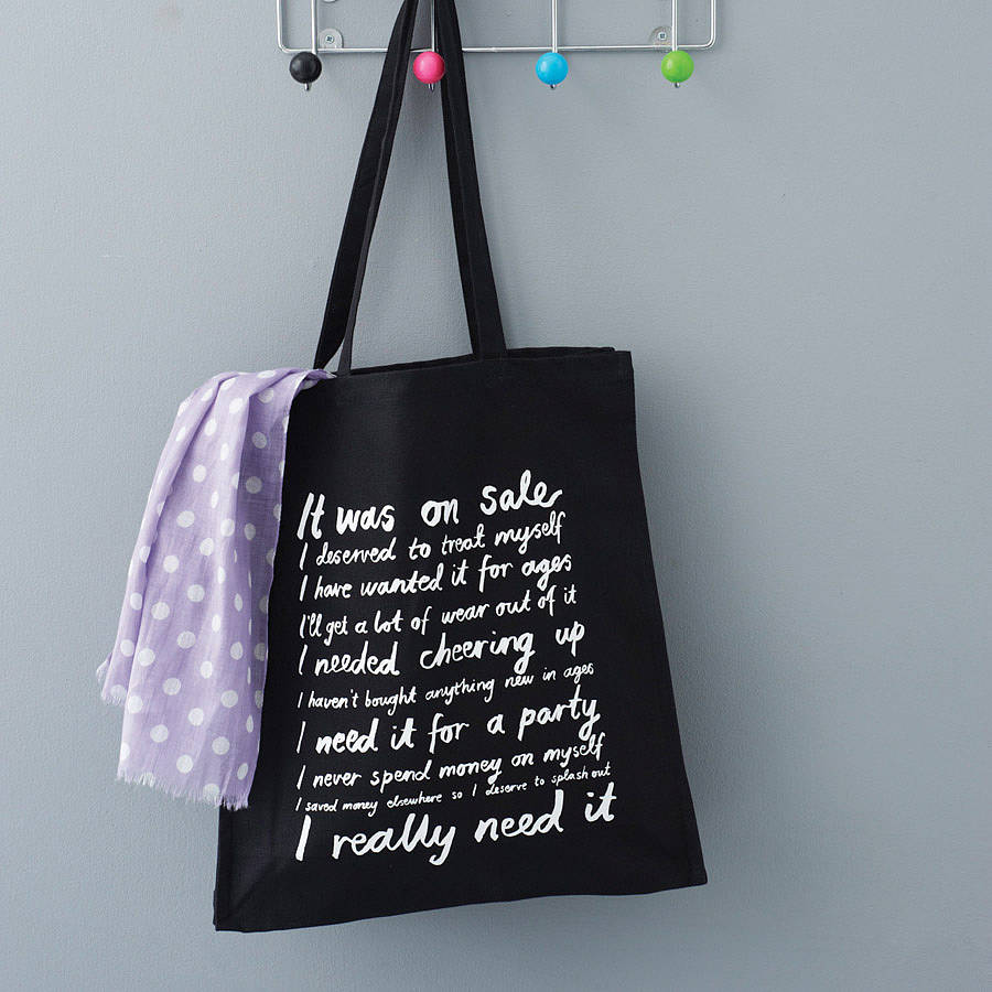 it was on sale' canvas tote bag by karin Åkesson design ...