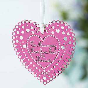 Personalised Paper Heart Keepsake - mixed media & collage