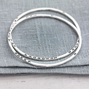 Personalised Word Bangle - wedding day tokens