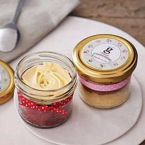 Set Of Two Cupcake Jars - stocking fillers under £15