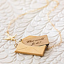 Gold Personalised Love Letter Necklace