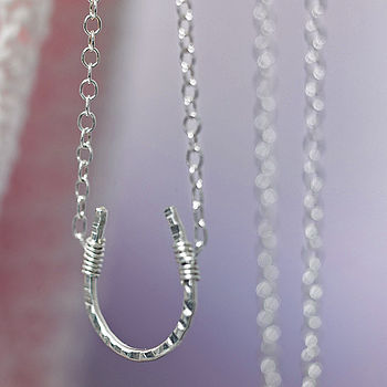 Silver horseshoe and silver chain