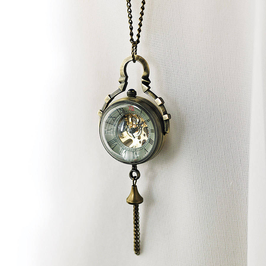 Vintage style ball watch necklace by madison honey vintage vintage style ball watch necklace aloadofball Image collections