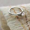 Calla Lily Pearl Ring