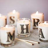 Hand Poured Alphabet Scented Candle - styling your day