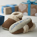Personalised Merino Sheepskin Booties