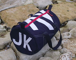 Personalised Seaview Navy Blue Kit Bags - holdalls & weekend bags