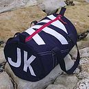 Personalised Seaview Navy Blue Kit Bags