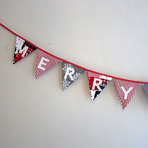'MERRY CHRISTMAS' Scandinavian Bunting