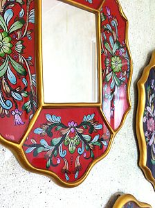 Hand Painted Glass Mirrors - mirrors