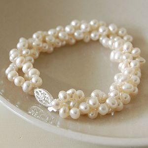 Multi Strand Pearl Bracelet By Highland Angel Notonthehighstreet Com