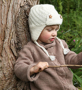 Hand Knitted Bowmont Trapper Hat - babies' hats