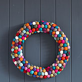 Felt Ball Wreath -  parties & entertaining