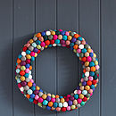 Felt Ball Wreath