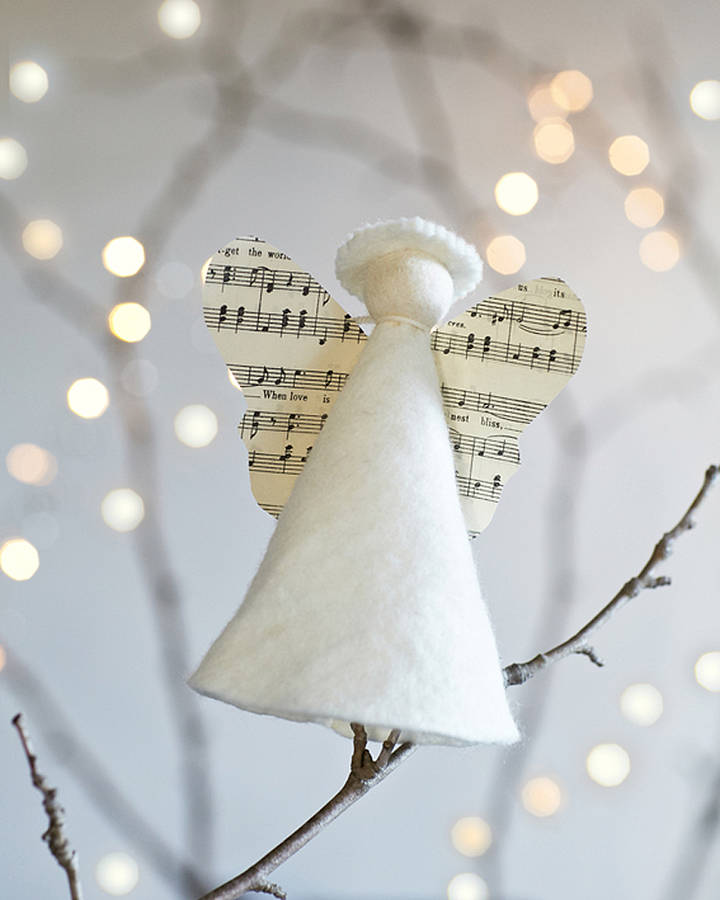Handmade Angel Christmas Tree Topper By Rastall And Daughters  - Christmas Tree Angel Toppers