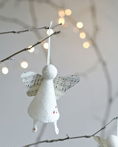Handmade Felt Angel Decoration