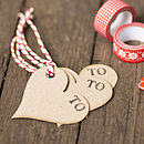 Recycled Heart Shaped Gift Tags