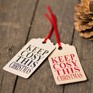 'Keep Cosy' Recycled Christmas Gift Tags