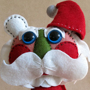 Artist Father Christmas Handmade Felt Doll - decorative accessories