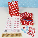 Red Advent Garland Kit
