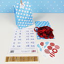 Blue Advent Garland Kit