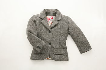Heritage Child's Highland Tweed Lined Jacket
