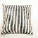 Ticking Stripe Highland Tweed Feather Cushion