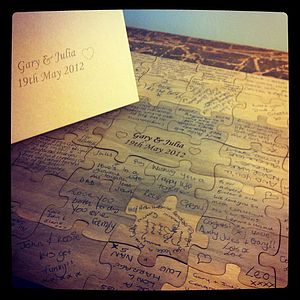Personalised Wooden Wedding Guest Puzzle - albums & keepsakes
