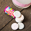 Personalised Bag Of Love Heart Sweets