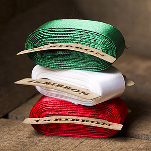 Satin Christmas Ribbon - sewing & knitting