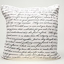 Printed Love Letter Feather Cushion