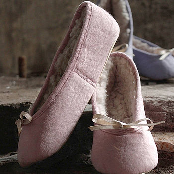 'Ballerina' Vintage Style Pink Slippers
